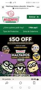 Krispy Kreme: $50 OFF en la compra de una docena OG o Select