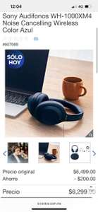 Costco, Sony Audífonos WH-1000XM4 Noise Cancelling Wireless Color Azul