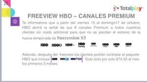 Totalplay: Del 15-17 de Octubre HBO Gratis