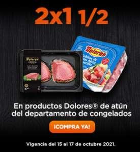 Chedraui: 2 x 1½ en productos Atún Dolores (depto. congelados)