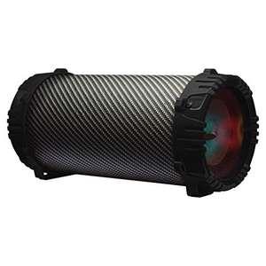 Amazon.mx Bocina Portátil Bluetooth Luces LED -Karaoke, SubWoofer, FM Radio - Negra