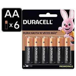 Amazon: 6 Pilas AA Duracell