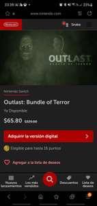 Nintendo eShop: Outlast: Bundle of Terror Nintendo Switch