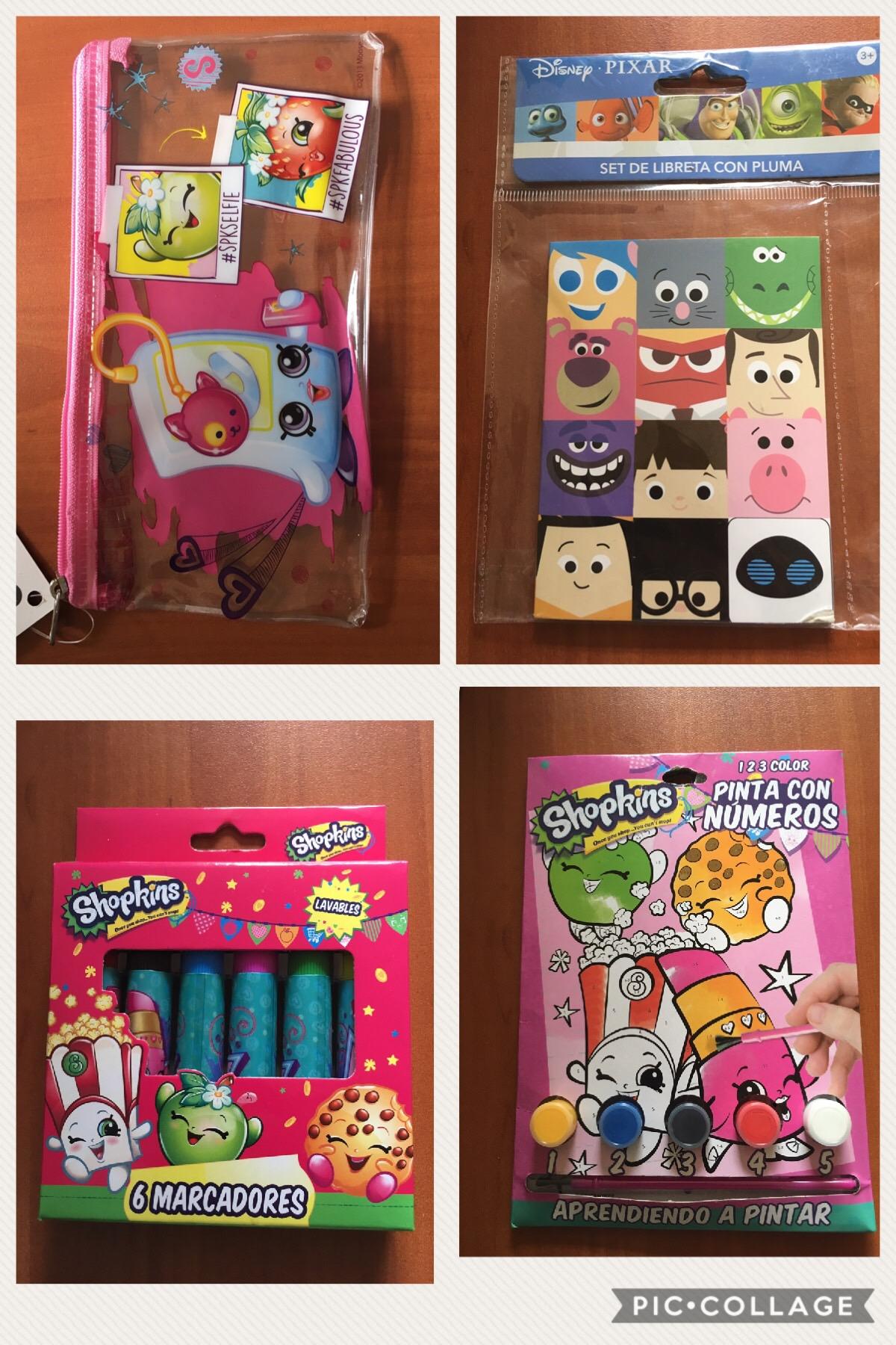 Walmart PRICHOS Toluca EDOMEX artículos de papelería de shopkins: marcadores, lapicera, set de arte en $3.02