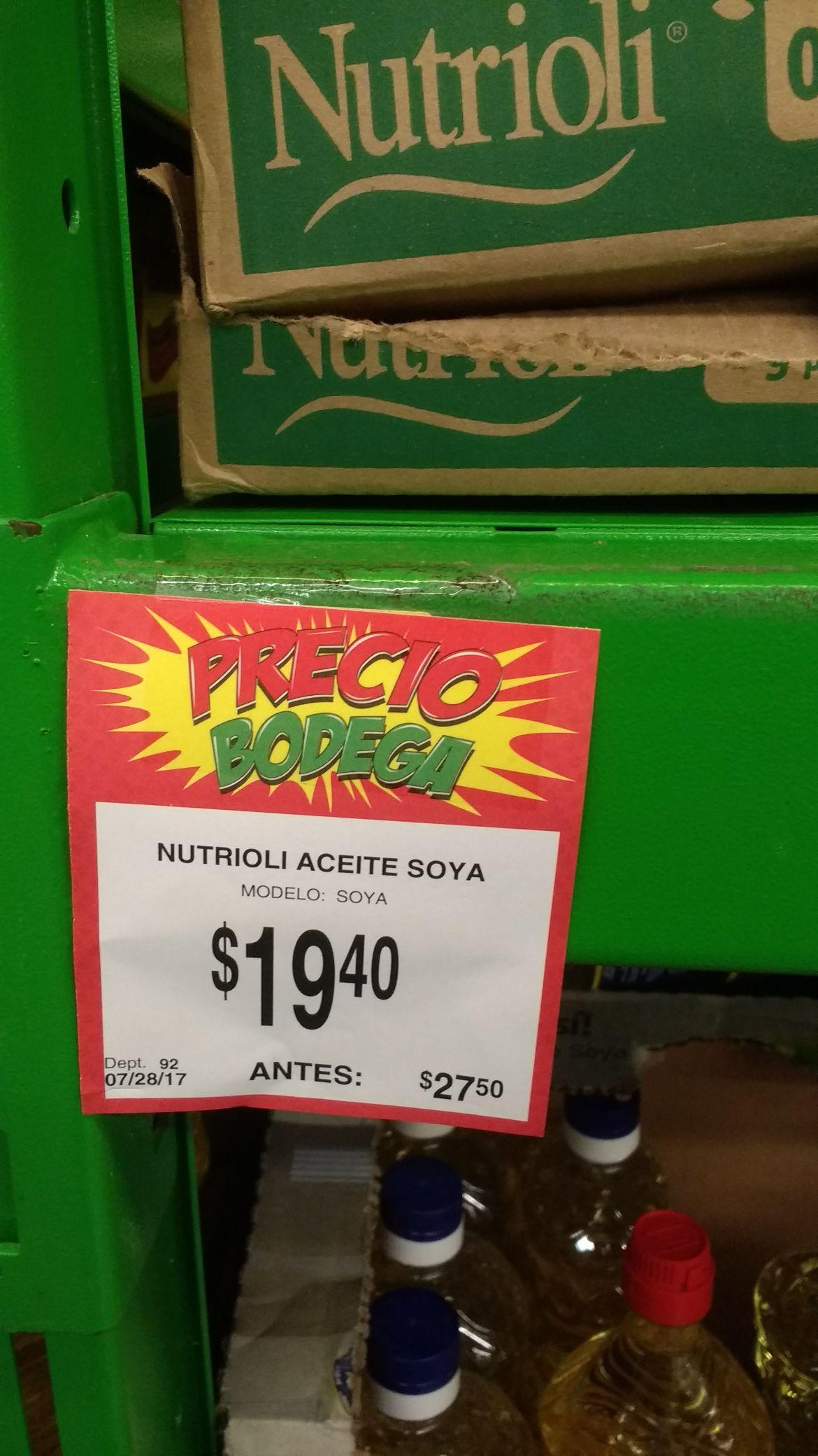 Bodega Aurrerá: aceite nutrioli
