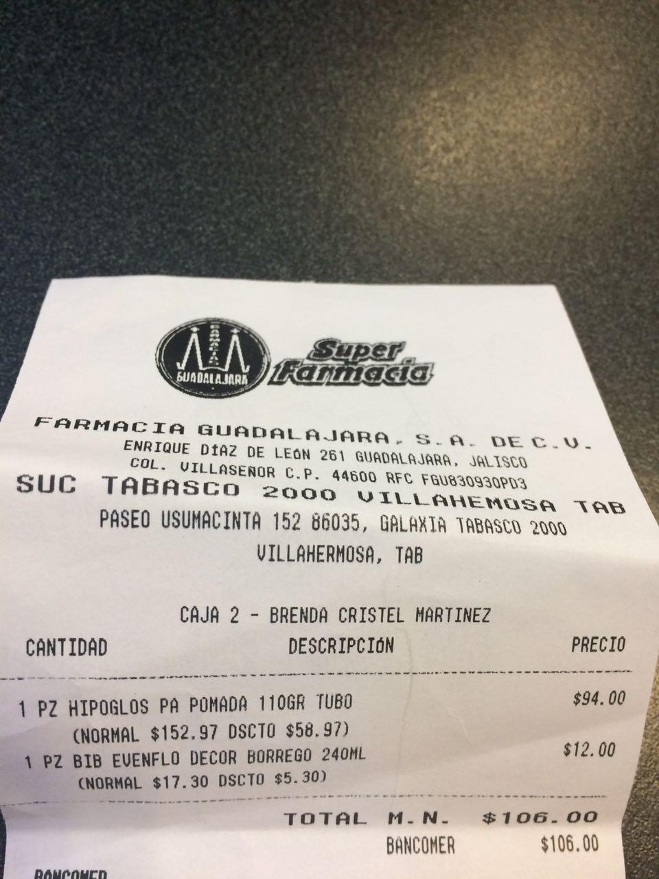 Farmacias Guadalajara: HIPOGLOSS TUBO GRANDE