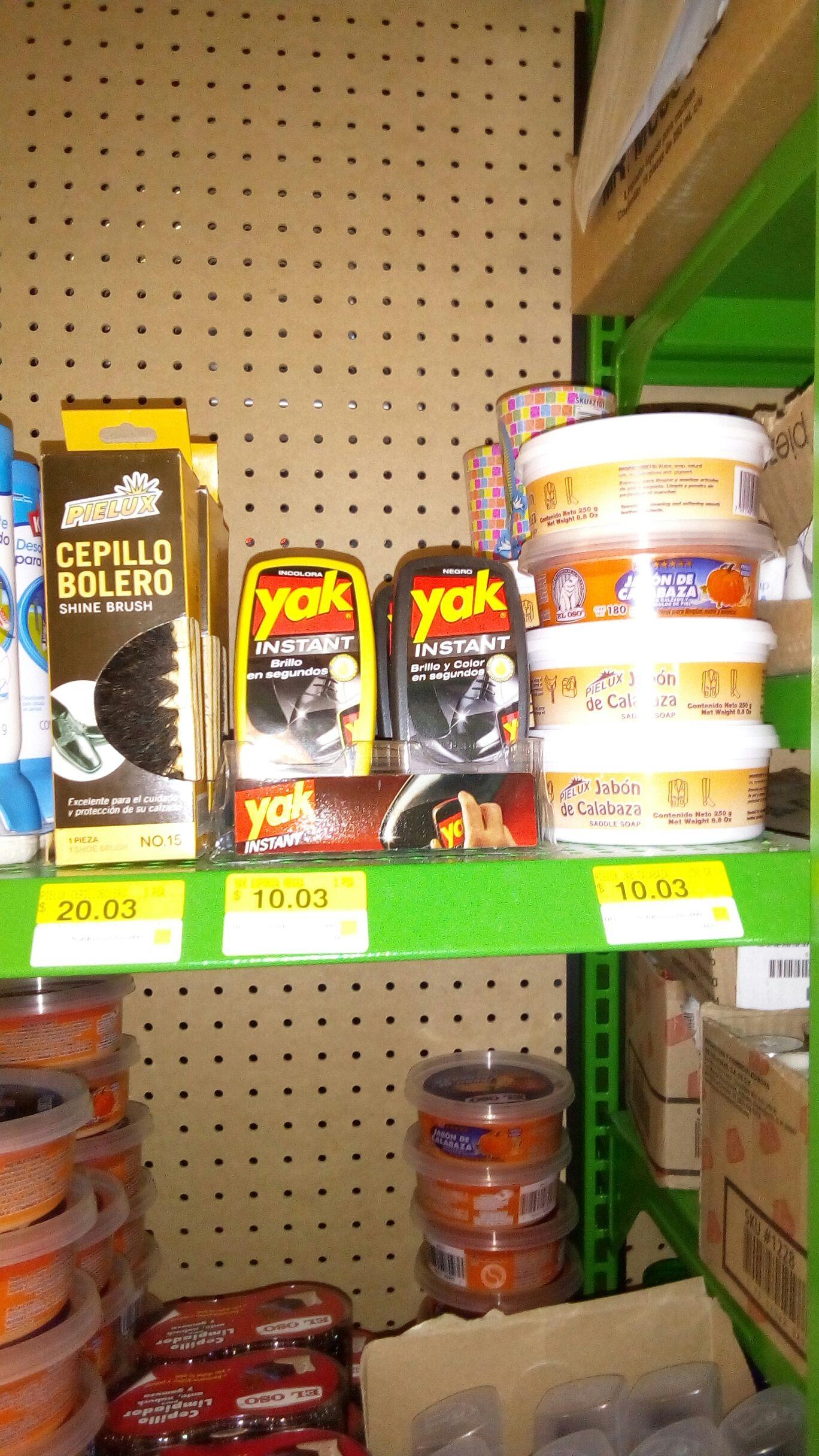 Bodega Aurrerá: Jabón de calabaza $5.02, cepillo 10.02 y esponjas