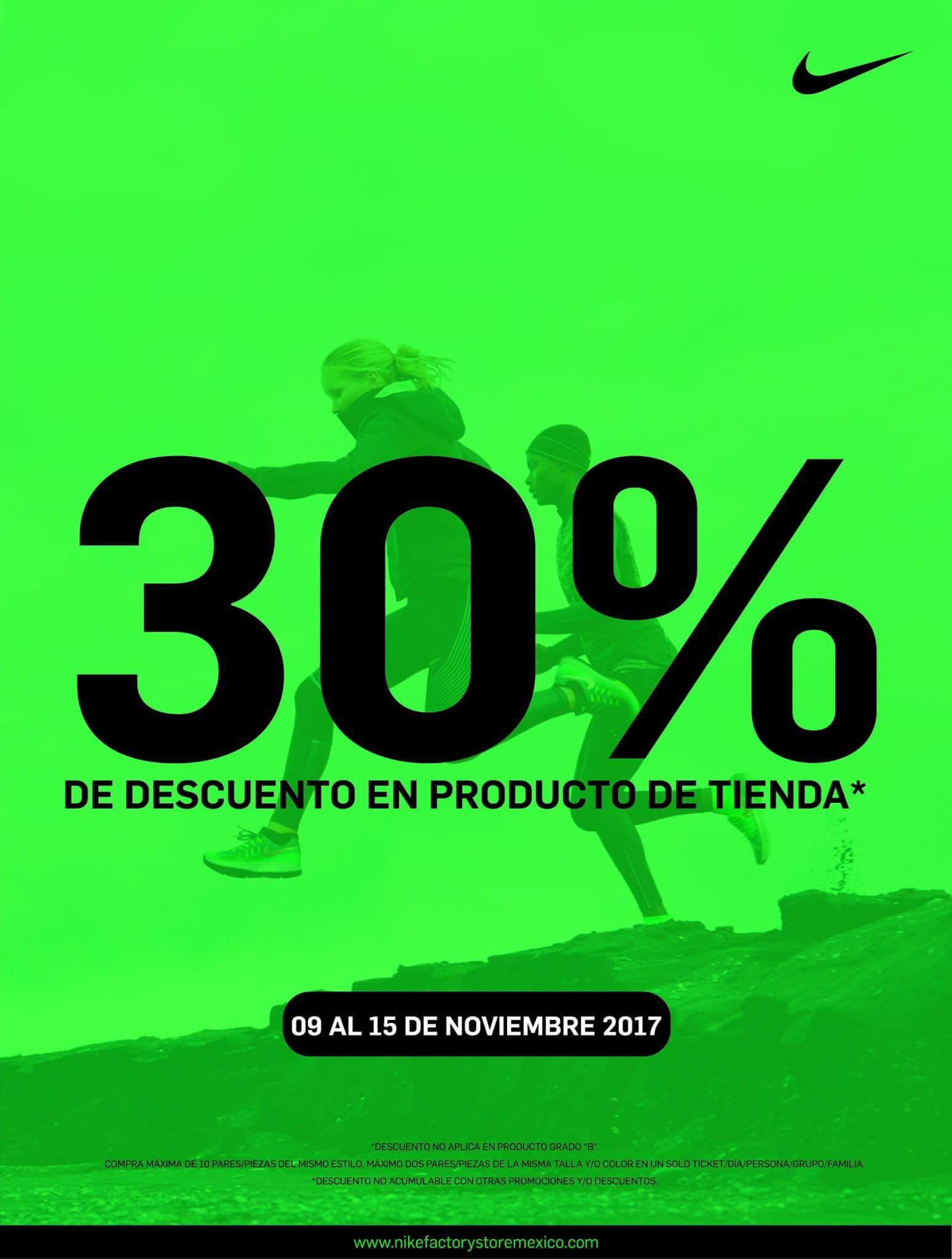 Nike Factory Store Plaza Citadella SLP: 30% de descuento en artículos participantes