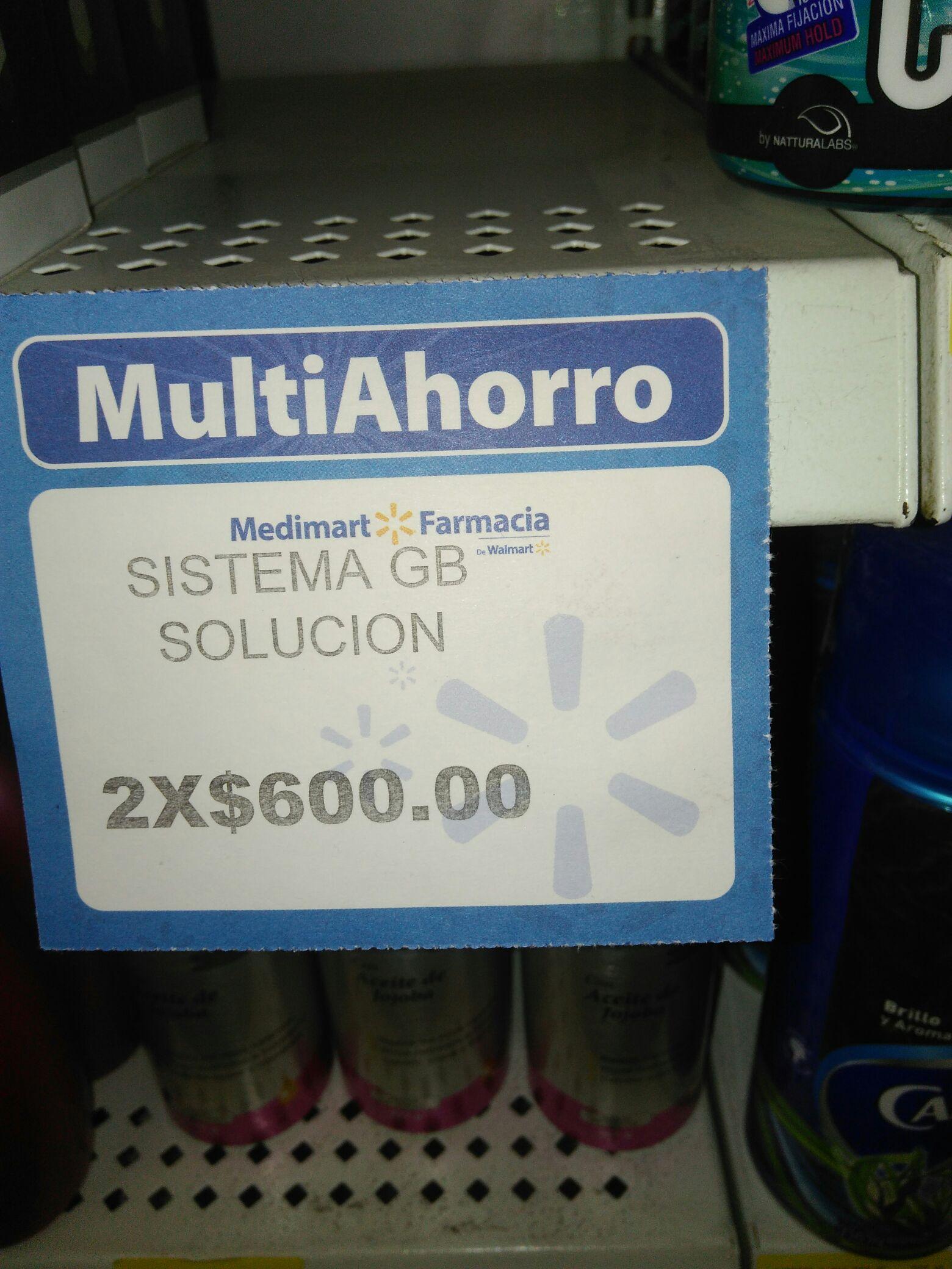 Walmart Medimart: Sistema GB minoxidil 2 x $600