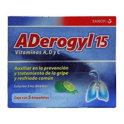 Superama: Aderogyl 5 ampolletas por $74.50
