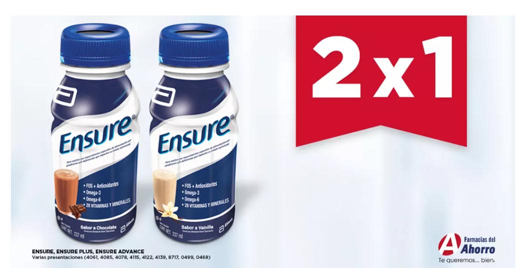 Farmacias del Ahorro: 2x1 Ensure