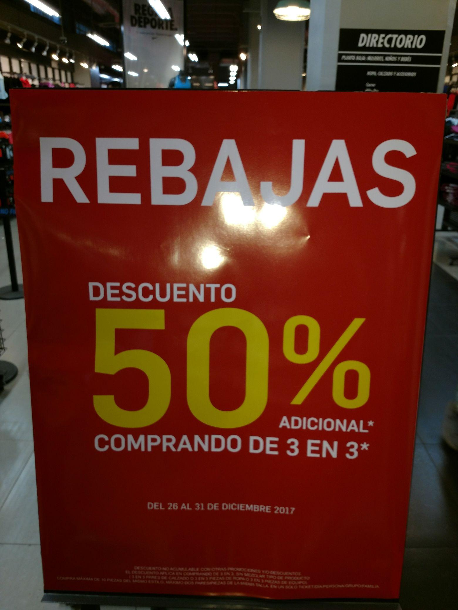 Nike factory store 50% en cada par comprando en 3