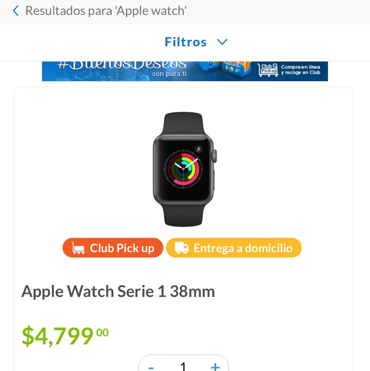 Sam's Club: Apple Watch Series 1 38 mm