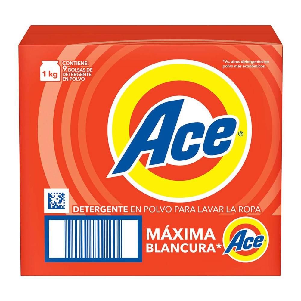 Detergente en Polvo Ace 9 kg en $169 en Sam´s Club