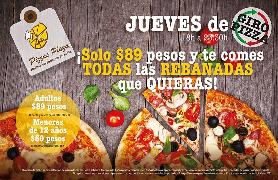 Pizzas Plaza: Todas las pizzas que puedas comer por $89 !!