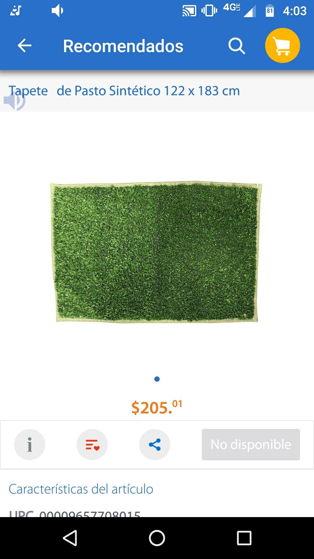 Walmart Lago Real: Pasto sintético de $200 a $63 pesos