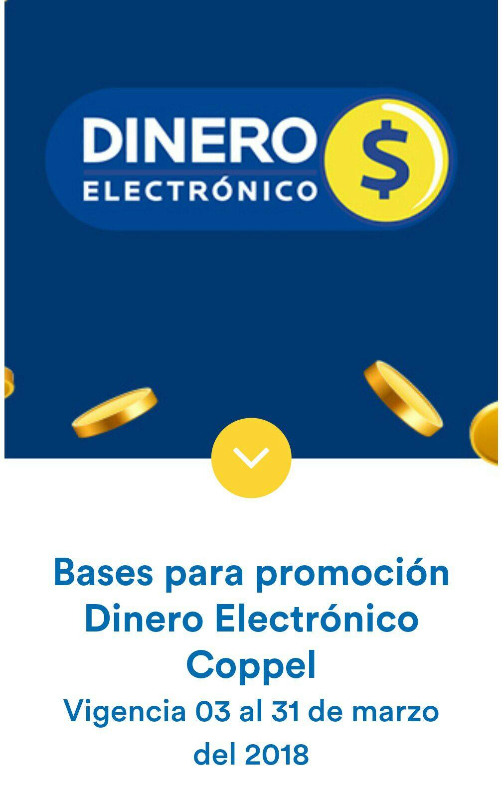Coppel: todas tus compras te dan 10% en dinero electronico.