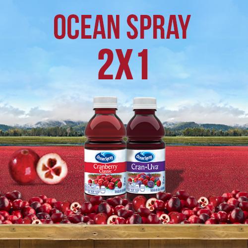 Oxxo: 2x1 en Ocean Spray con cupón