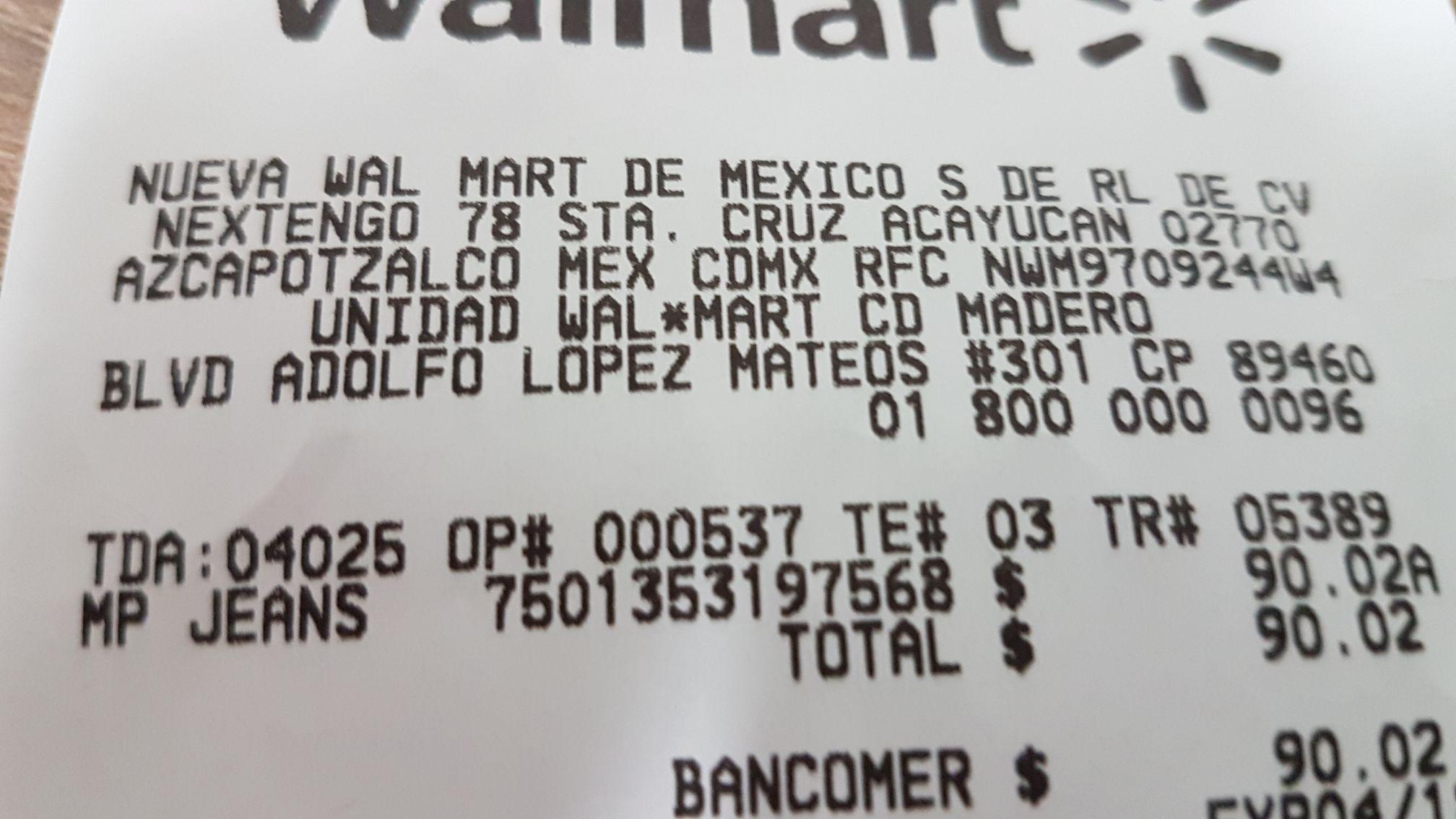 Walmart: Pantalones 725 y Cimarron en oferta