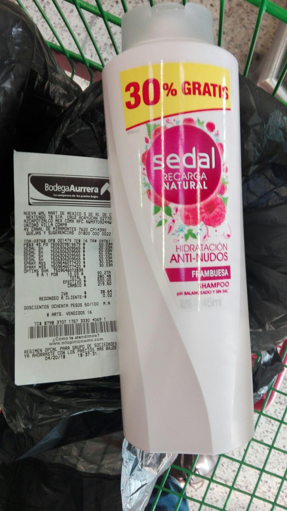 Bodega Aurrerá: Liquidación Shampoo Sedal 845 ml