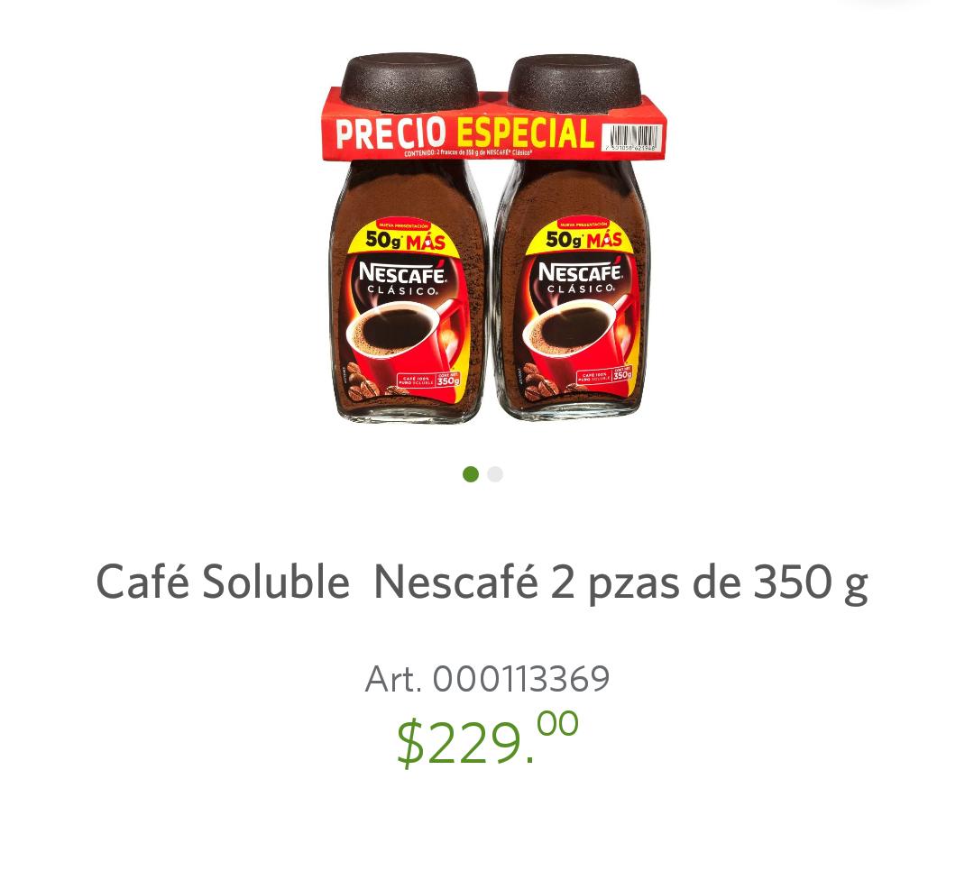 Sam's Club: Café Soluble Nescafé 2 pzas de 350gr