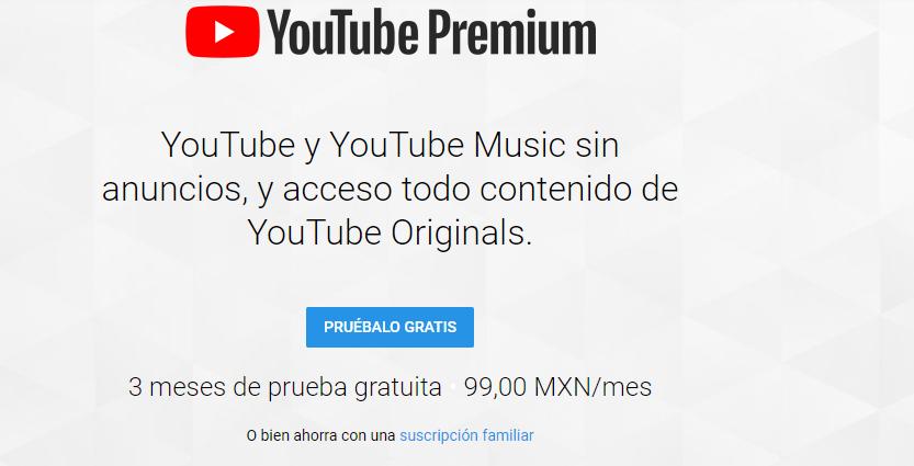 YouTube Premium: 3 meses de prueba gratis (solo usuarios nuevos)