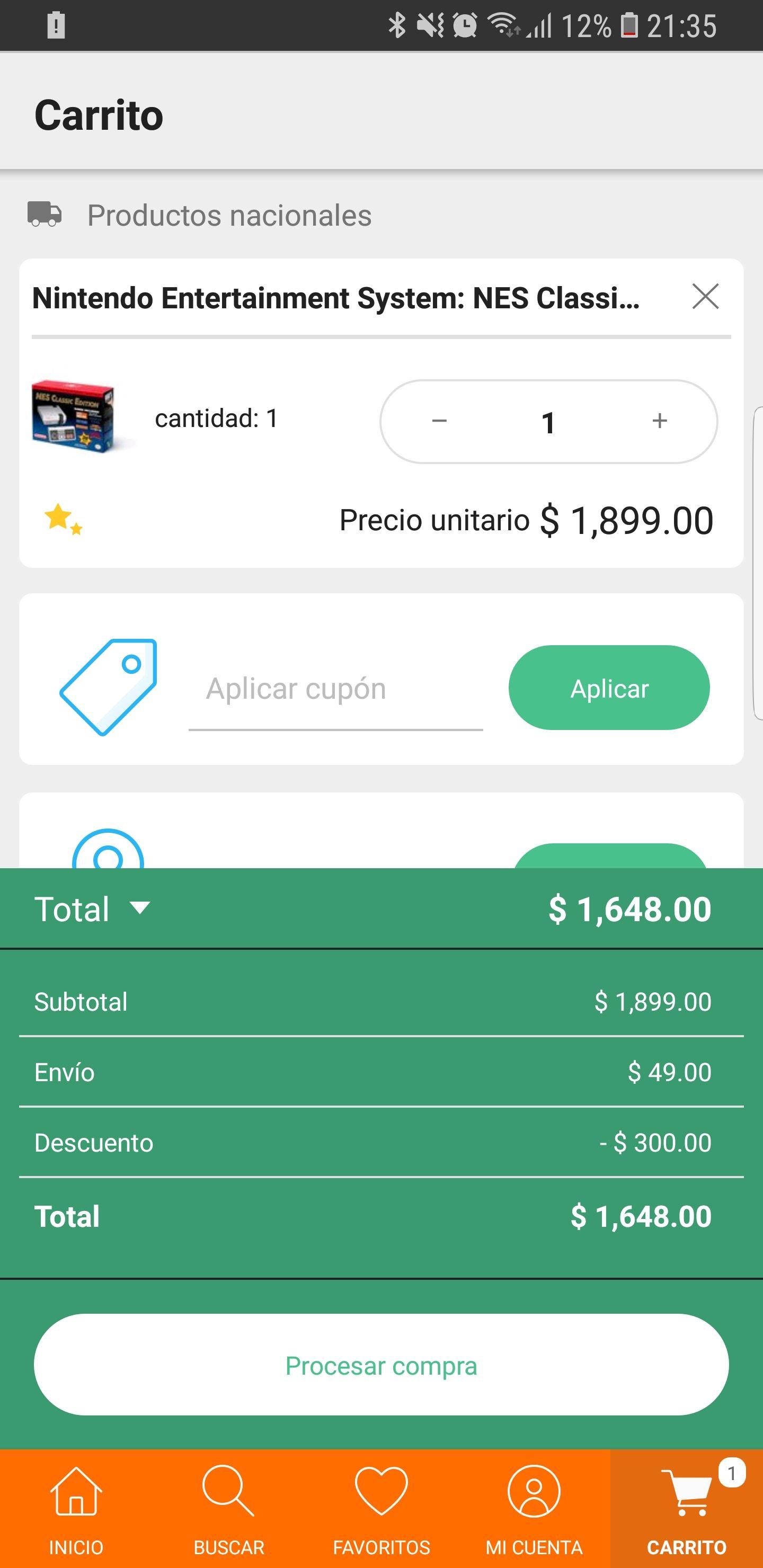 Linio: Mini Nes al pagar con PayPal