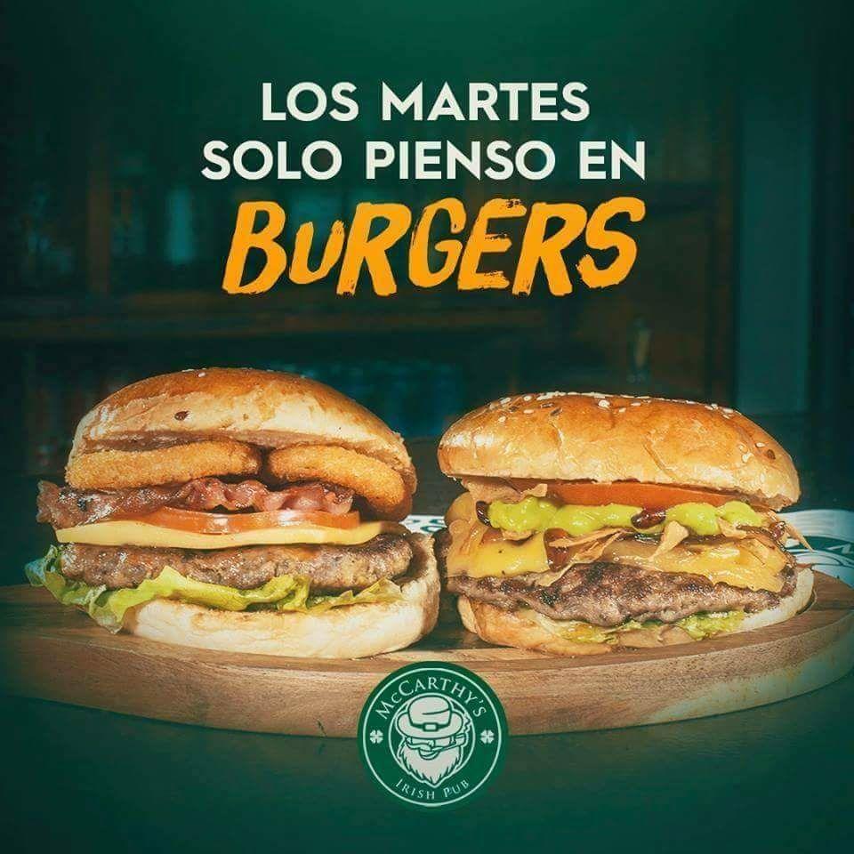Mccarthy's Irish Pub: 2x1 Burgers solo los martes.