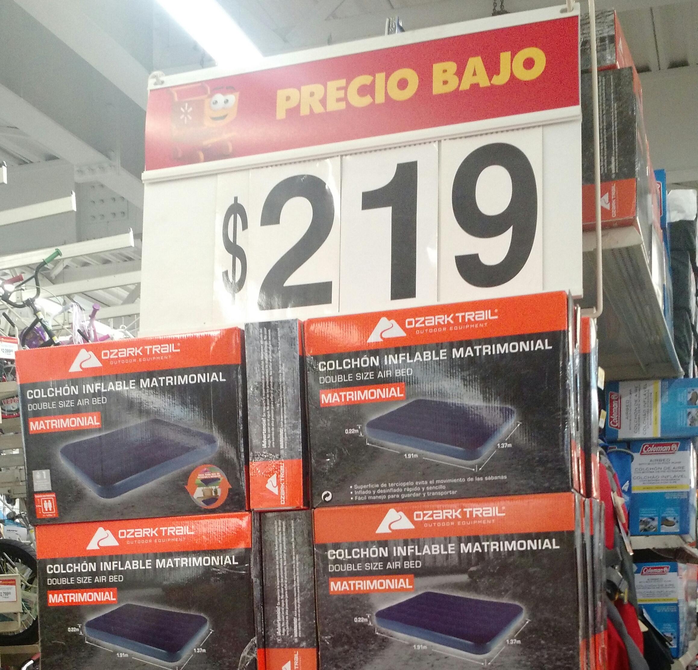 Walmart: colchón matrimonial inflable a $219