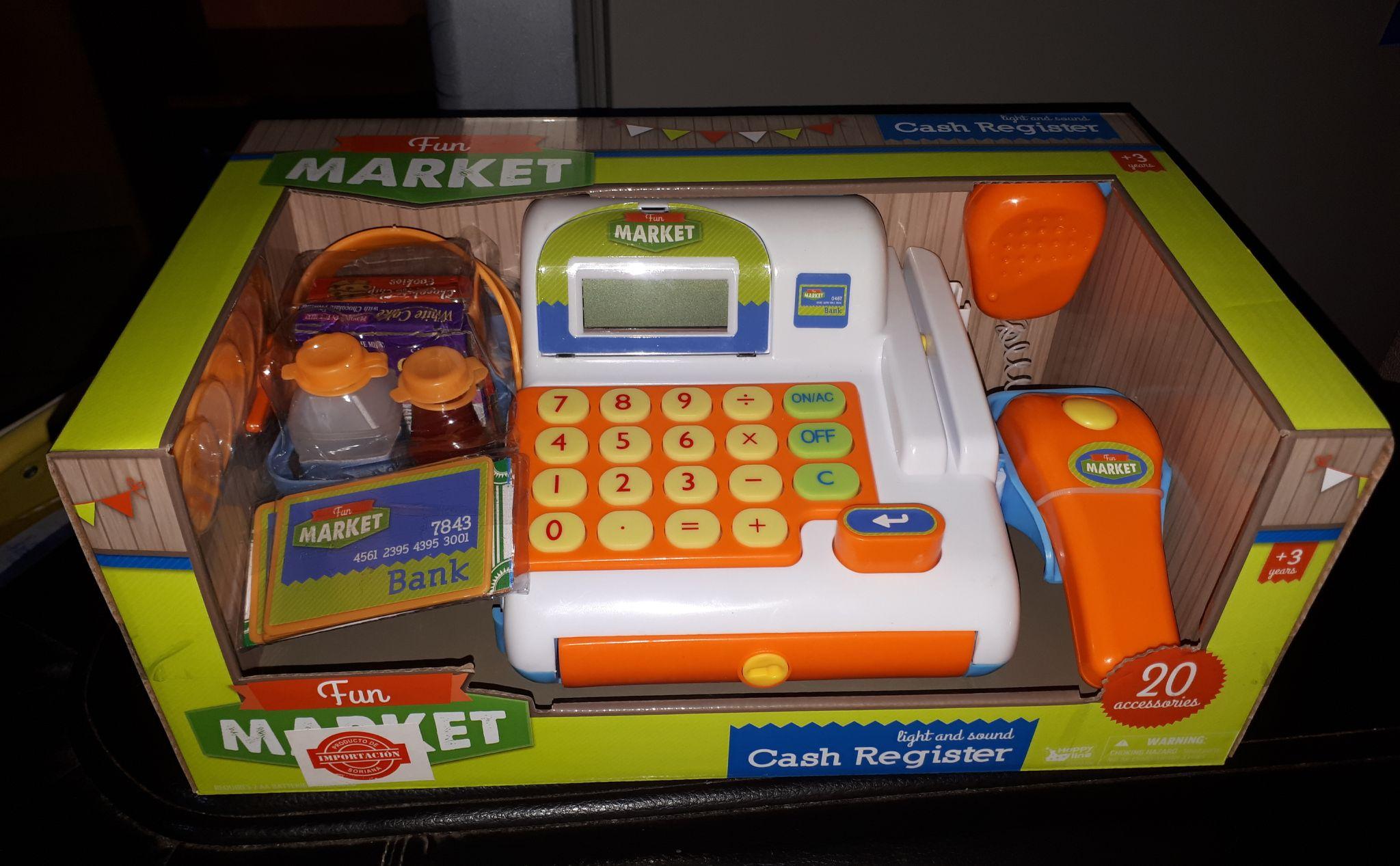 Soriana Express: Caja registradora de juguete a mitad de precio $149.50