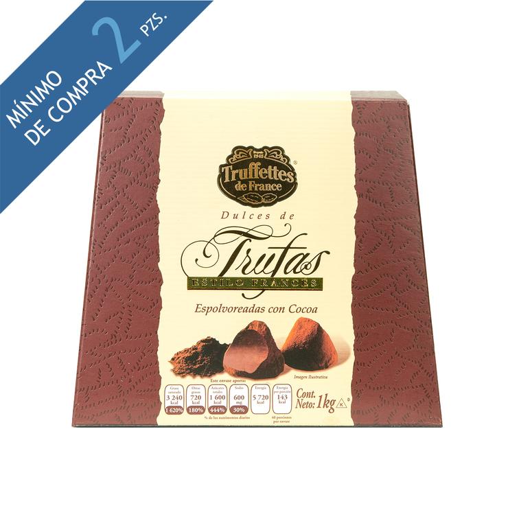 Costco: Trufas espolvoreadas con cacao