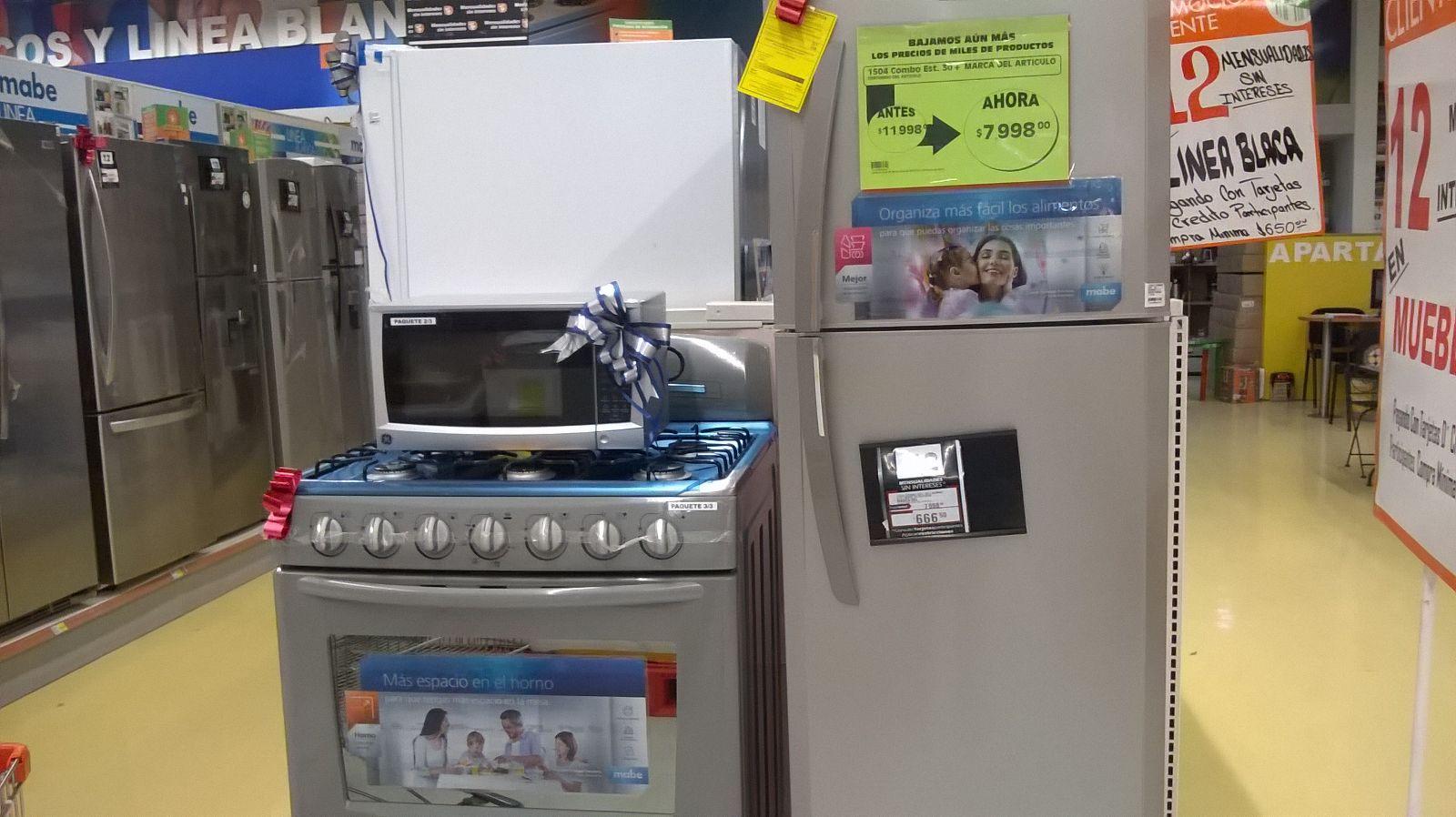 Paquete de electrodomesticos en La Comer desde $7,989.00