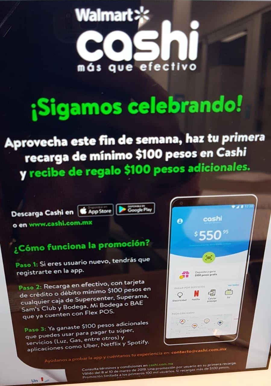 Walmart: $100 en cashi