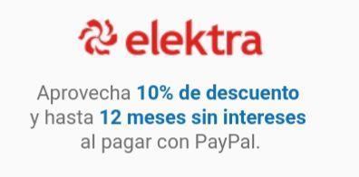 Elektra: 10% de descuento + 12msi pagando con paypal