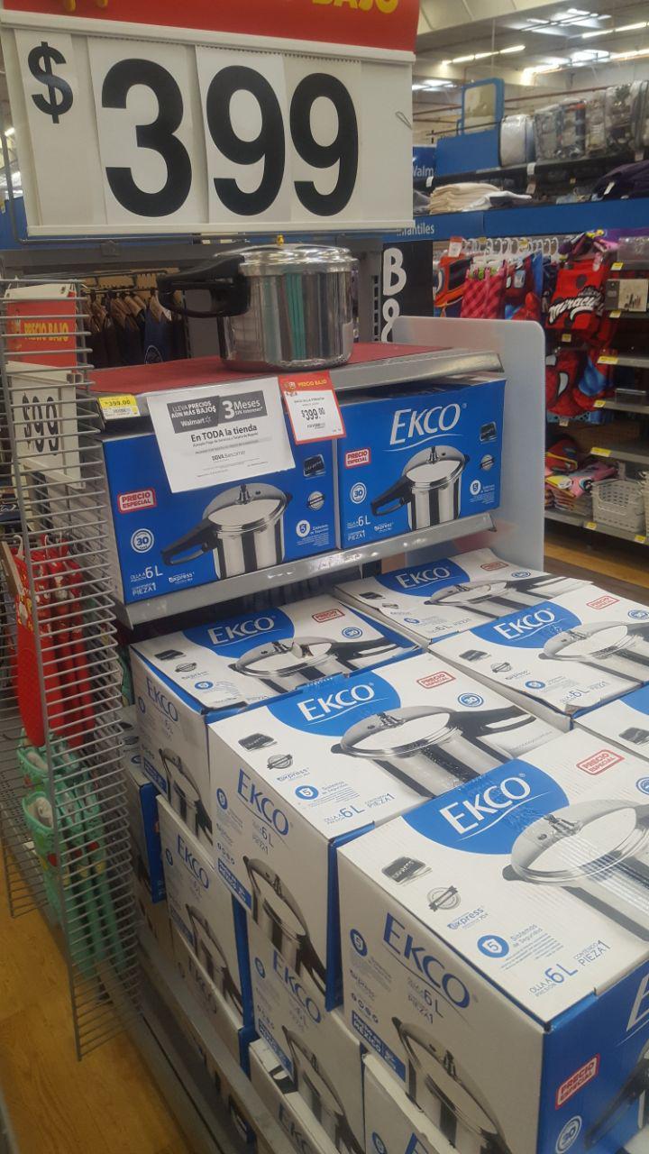 Walmart: Olla a presión Ekco 6 Lts