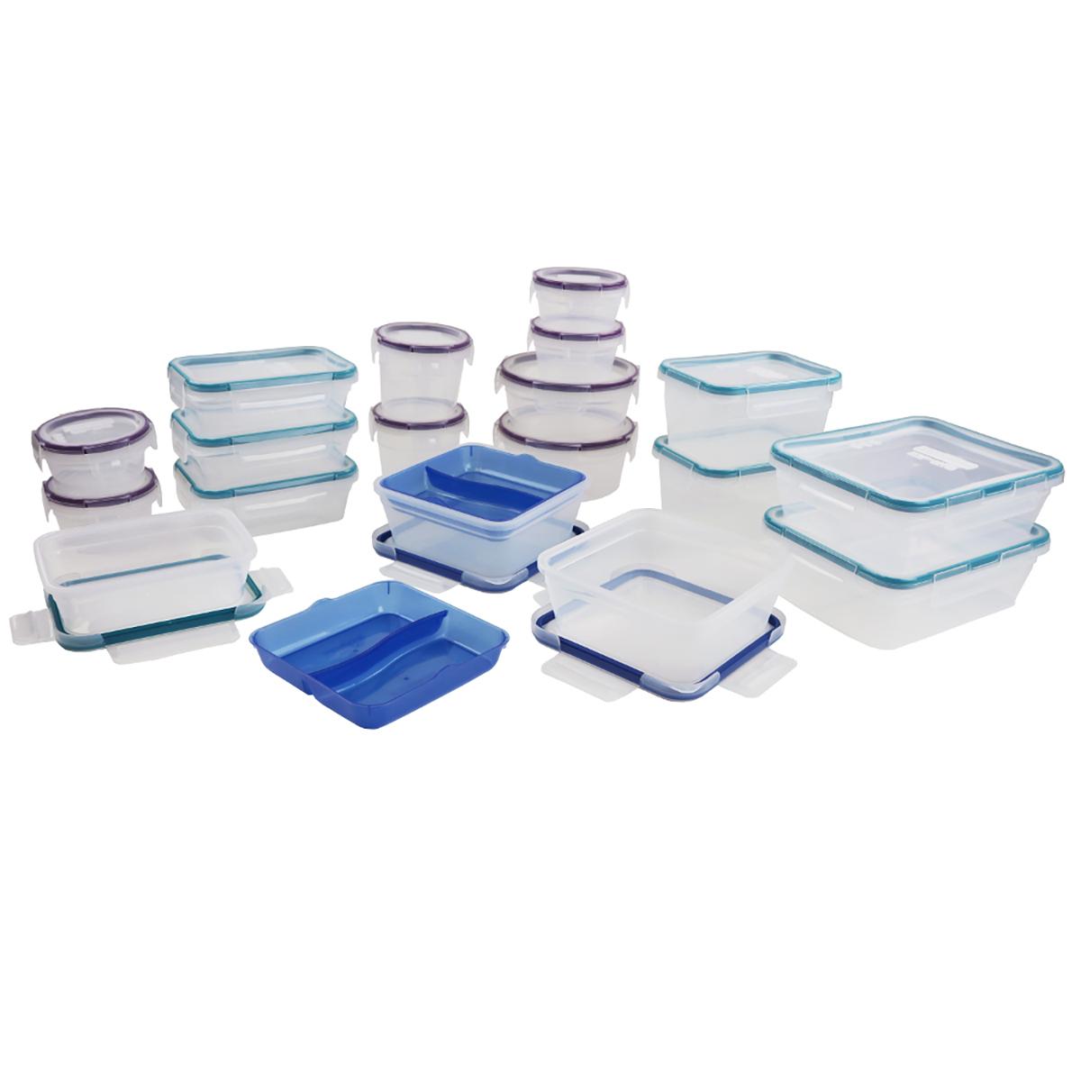 Costco. Snapware, juego de recipientes de plástico de 38 piezas.