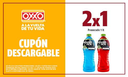 OXXO: 2 X 1 Powerade 1lt.