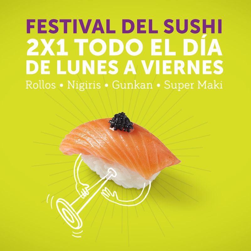 Sushi Itto: 2x1 en Sushi de lunes a viernes