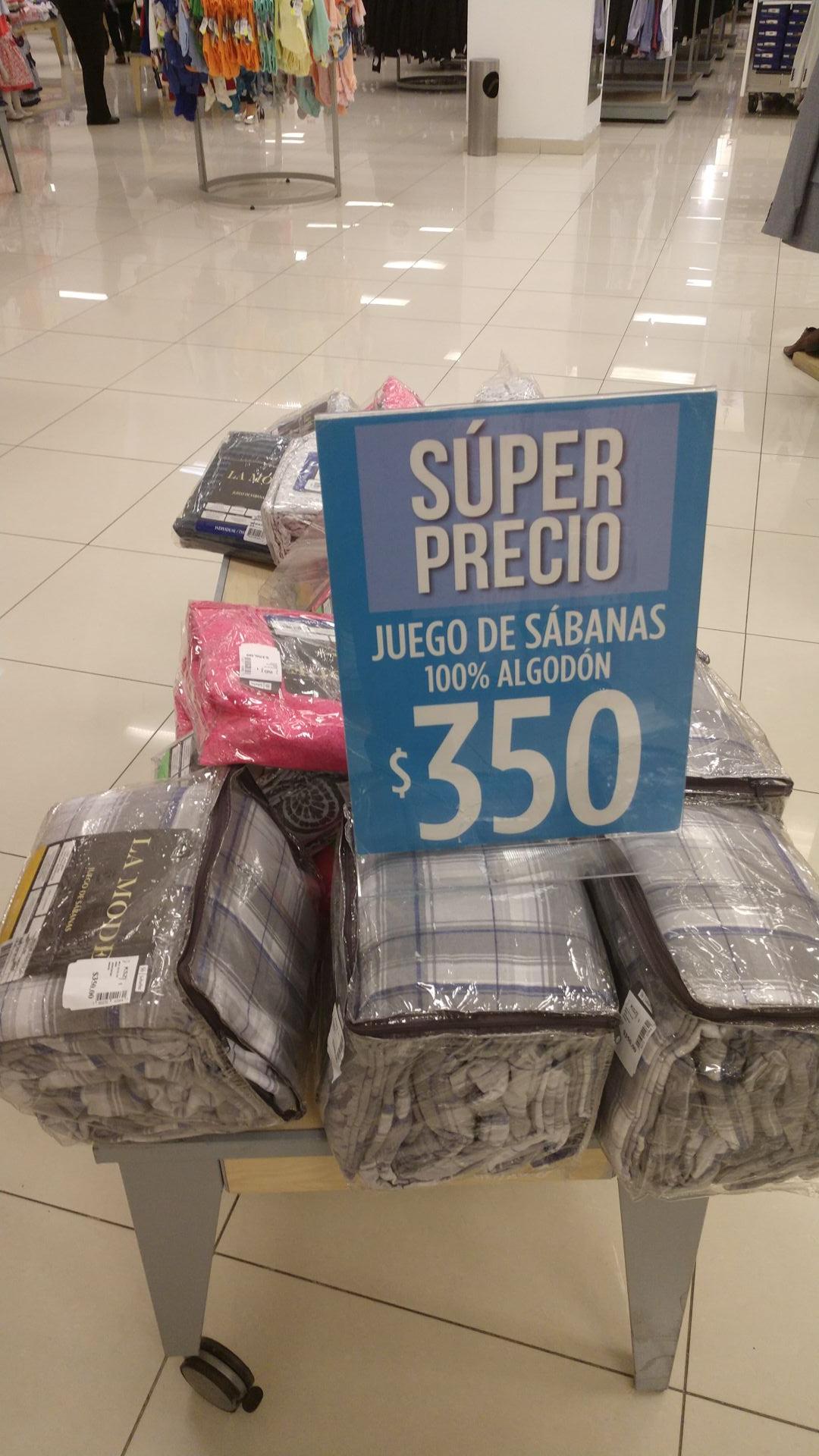 Suburbia: Juego de sábanas 100% algodon (a $315 presentando membresía Sam's Benefits)