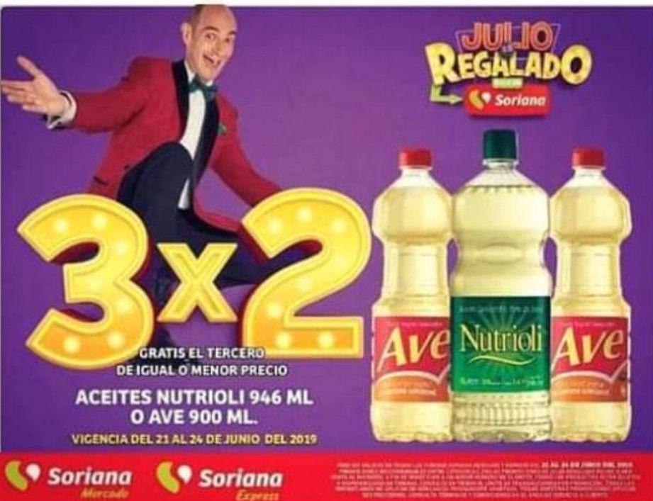 Soriana Julio Regalado: Aceite al 3 x2