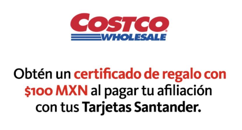 Costco: $100 en certificado para membresía con Santander