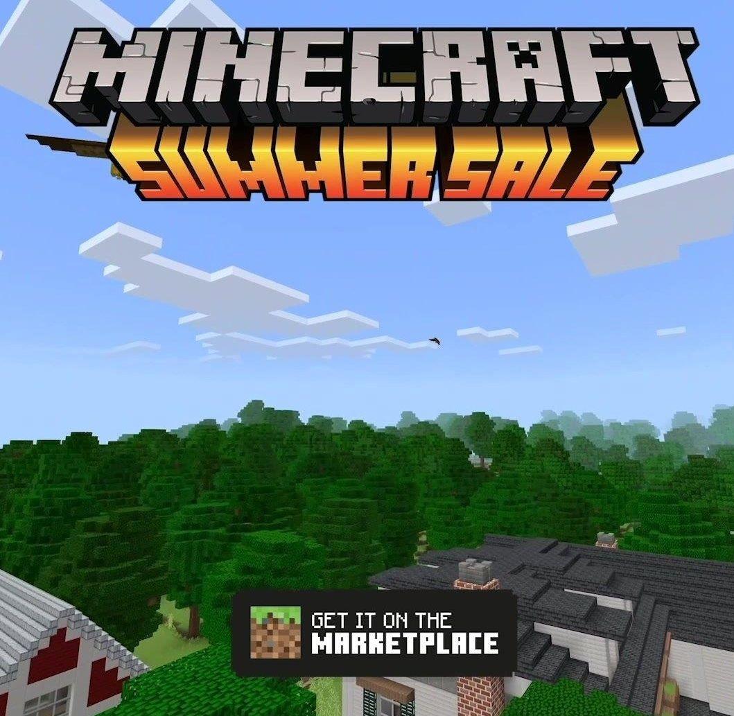 Minecraft Summer Sale: decuentos de hasta el 75% dentro de la aplicación.