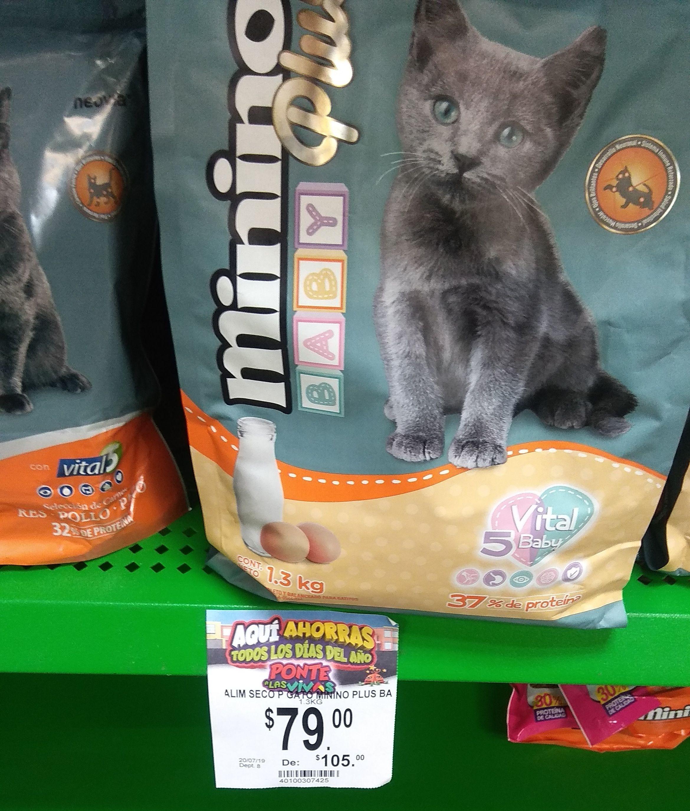 Bodega Aurrerá Comida para gato minino plus