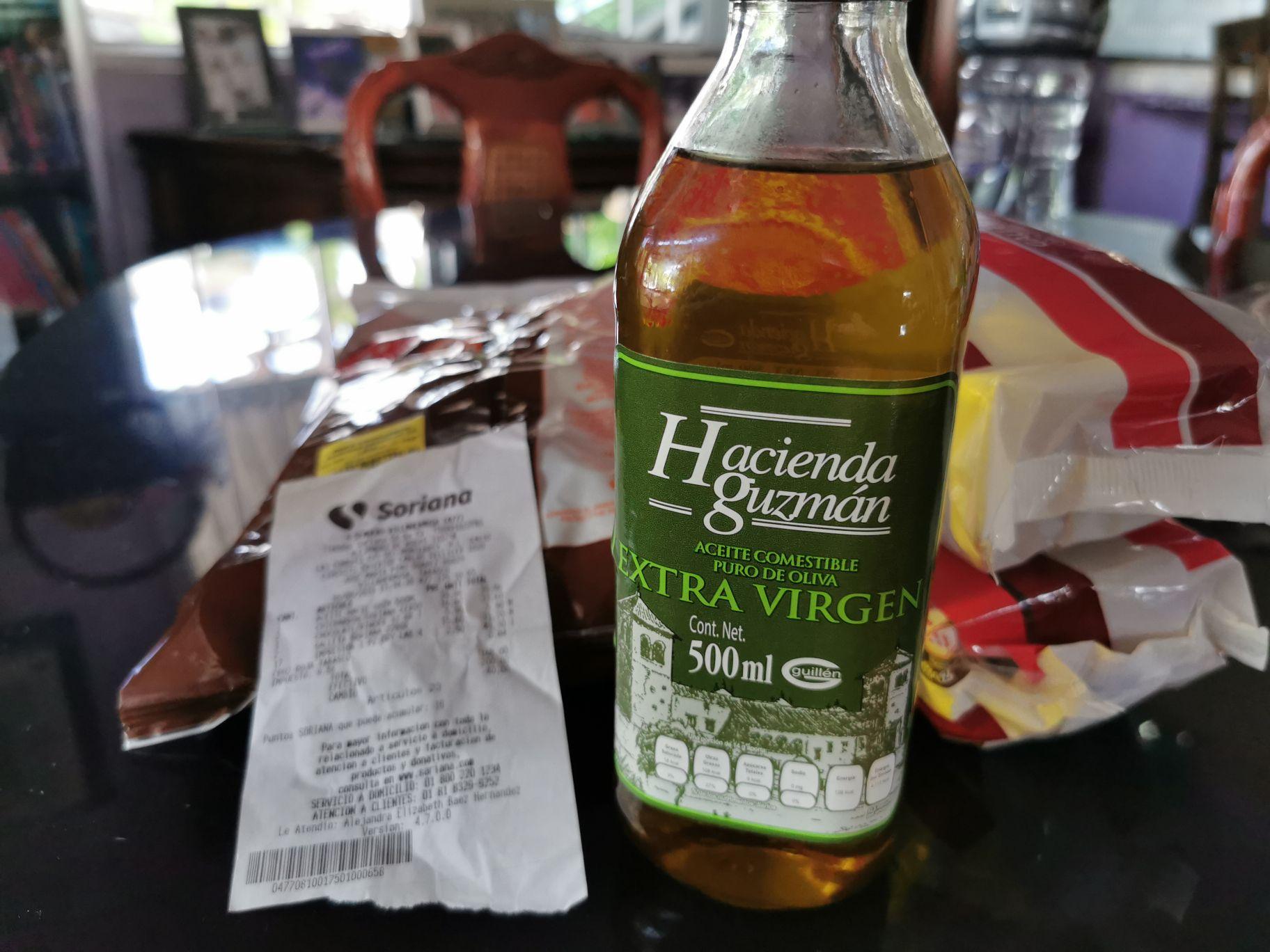 Soriana: Aceite de Oliva Extra virgen Español.