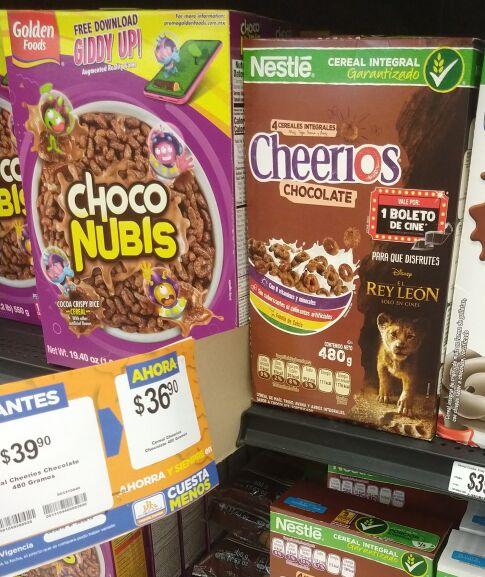 Chedraui: Cheerios Chocolate + Boleto Cinemex