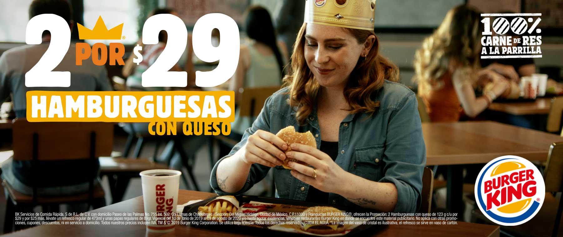 Burger King Hamburguesa con queso 2x 29