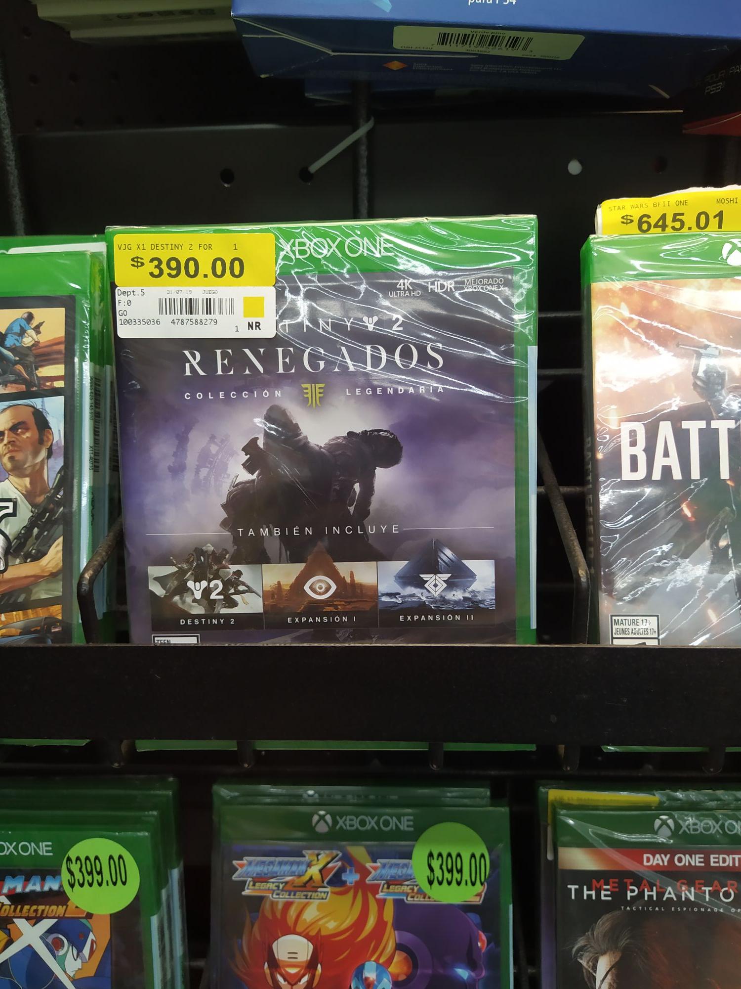 Bodega Aurrera: Varios juegos para Xbox One