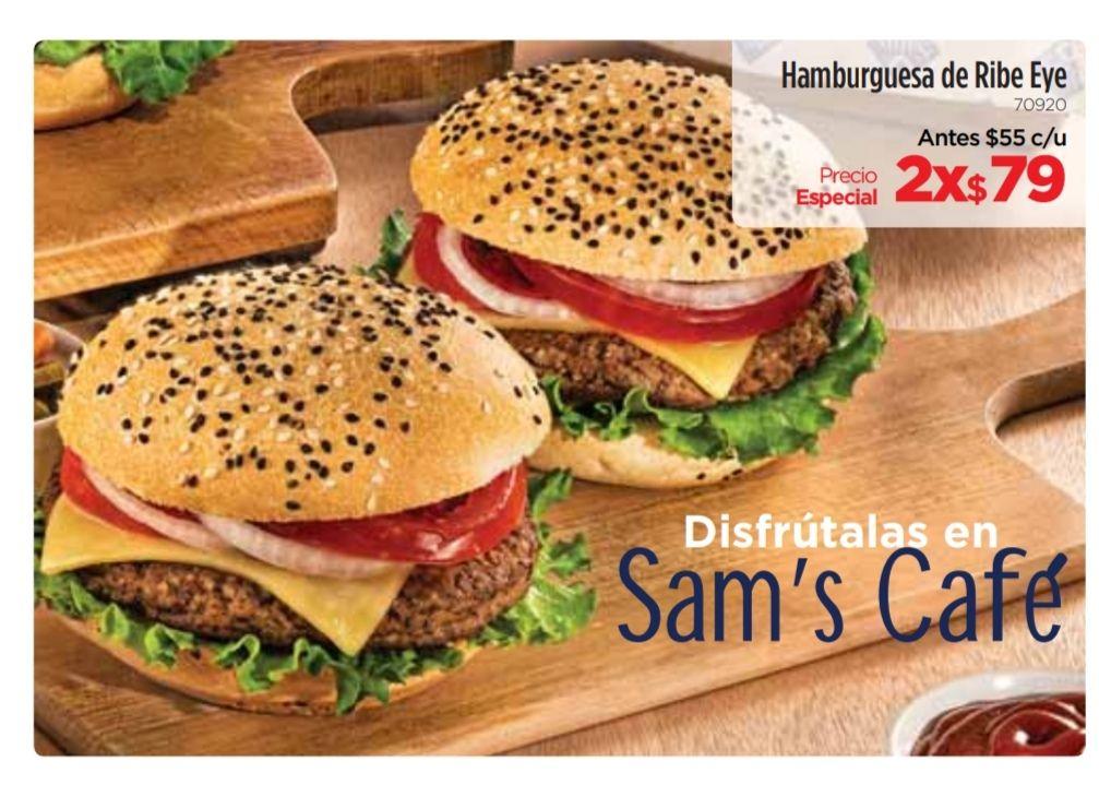 Sam's Club Café : Hamburguesas de Ribe Eye 2x $79