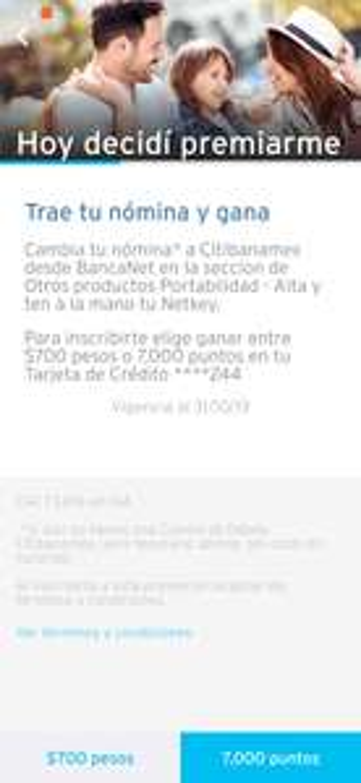 Citibanamex: Obtén $700 al hacer portabilidad de nómina