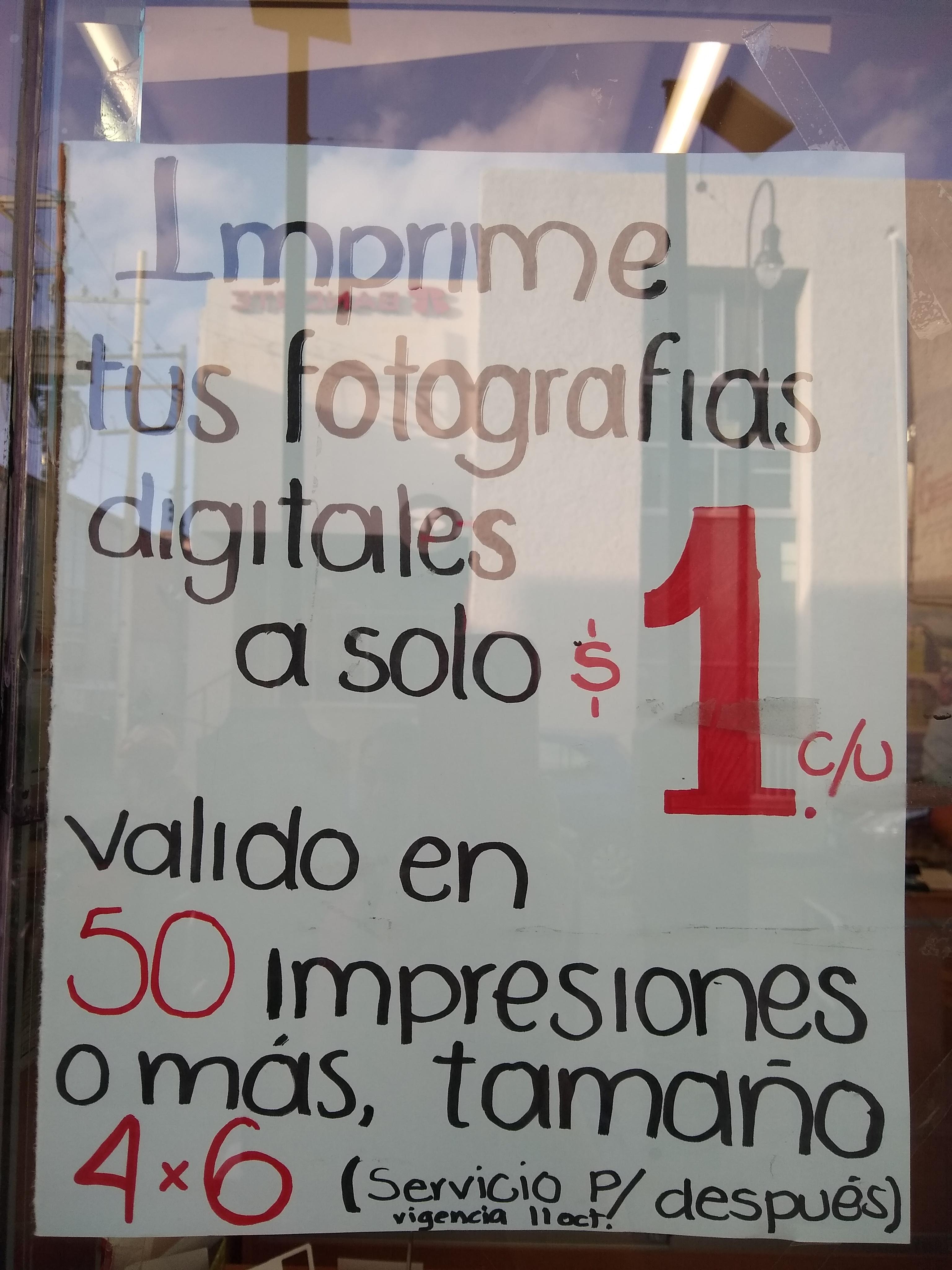 Farmacias Guadalajara: Impresión de fotografías $1 a partir de 50